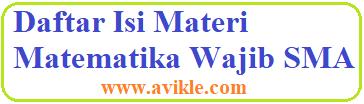 Daftar Isi Materi Matematika Wajib SMA