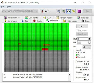 اولا برنامج HDD Tune
