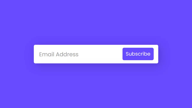 Email Subscription Form Animation using only HTML & CSS