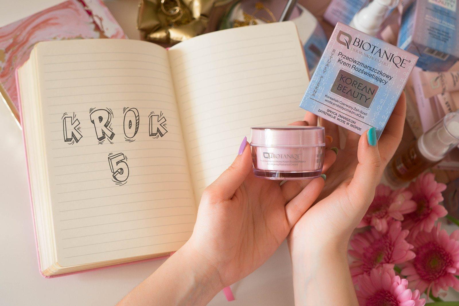 9 biotaniqe koreańska pielęgnacja krok po kroku w jakiej kolejności nakładać kosmetyki jak dbać o cerę koreańskie kosmetyki kremy serum maski korean beauty instagram melodylaniella łódzka blogerka lifestyle