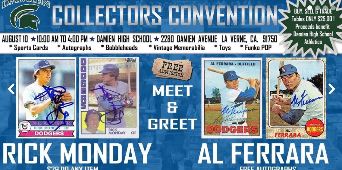 Dodgers Blue Heaven Weekend Autograph Opportunity Dave Roberts