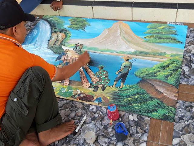 Guru SMA Padangsago Wakili Korem 032 Lomba Melukis tingkat Kodam