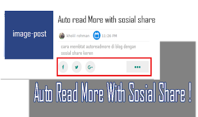 Memasang Auto Read More With Sosial share