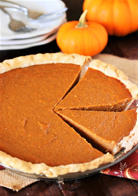 Whole Sweet Potato Pumpkin Pie in Pie Dish Image