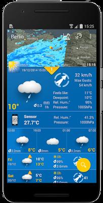 تطبيق WeatherPro مدفوع للاندرويد, افضل تطبيق للطقس 2018, افضل برنامج طقس للاندرويد 2018, افضل برامج الطقس للاندرويد 2018