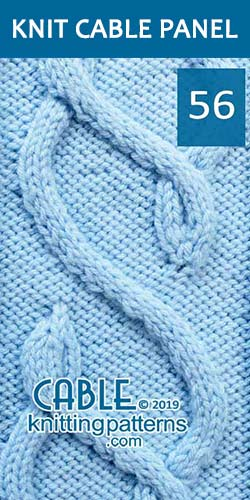 Knit Cable Panel Pattern 56, its FREE