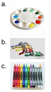 gambar alat lukis dan menggambar sd kelas 1