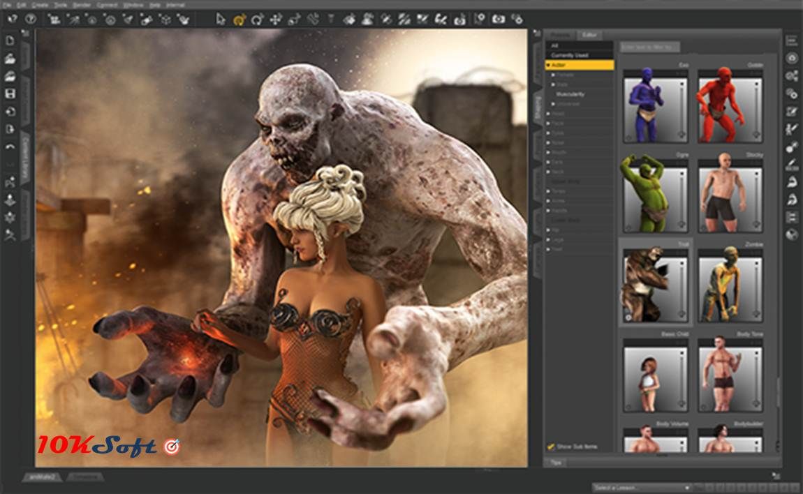 DAZ 3D Studio Pro 4.9.4 Offline Installer Setup Free Download