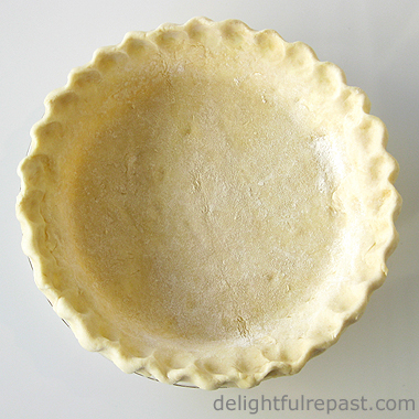 Pumpkin Pie - Without Canned Milk (this photo - unbaked pie shell) / www.delightfulrepast.com
