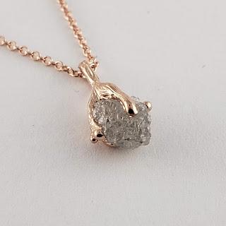 Engagement, Anniversary, Birthday Rough Diamond Necklace