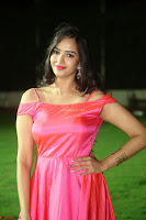 Actress Pujita Ponnada in beautiful red dress at Darshakudu music launch ~ Celebrities Galleries 032.JPG
