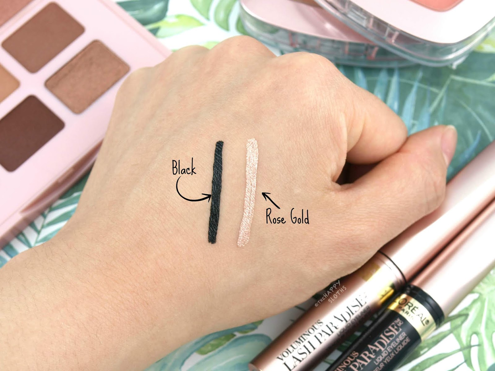 "L'Oreal | Voluminous Lash Paradise Liquid Eyeliner in ""Black"" & ""Rose Gold"": Review and Swatches"