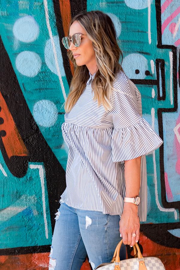 ruffle sleeve blouse parlor girl