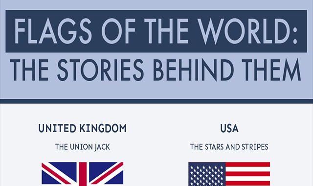 Flags of the World: The Stories Behind Them #infographic