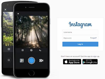 Cara membuka akun instagram lewat pc