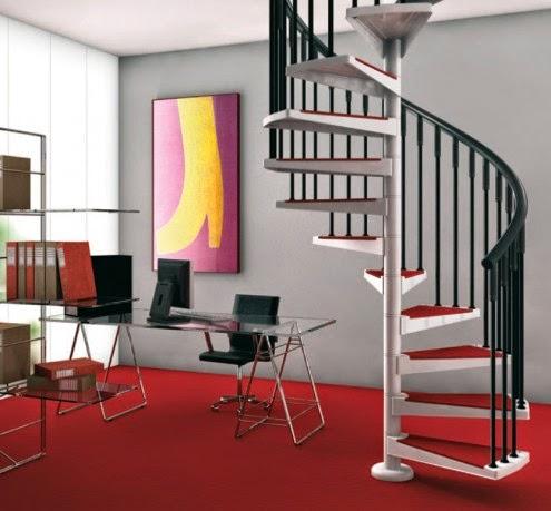 Gambar Tangga Rumah Minimalis Stainless Steel Desain Modern Pijakan Besi Kayu