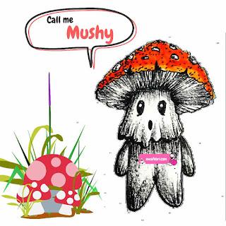 mushroom art character