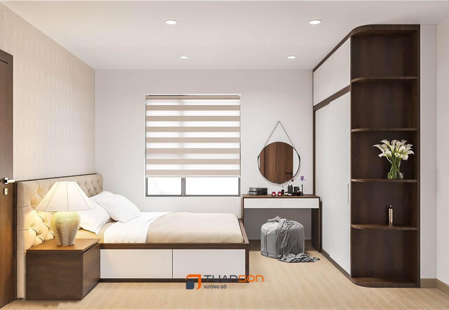 Thiết kế nội thất căn hộ 3 phòng ngủ IEC Thanh Trì