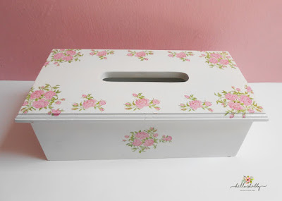 tissue box shabby chic vintage white ~ hello shabby