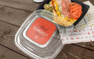 Free mockup kotak makanan PSD