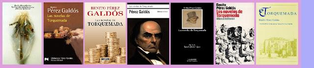 portadas de las Novelas de Torquemada, de Benito Pérez Galdós