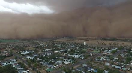 Τεράστια αμμοθύελλα στη Νέα Νότια Ουαλία στην Αυστραλία