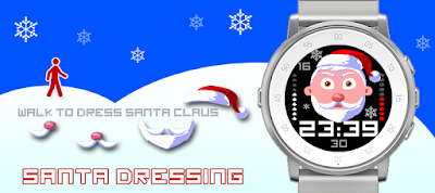 Santa dressing watchface - Pebble Time Round