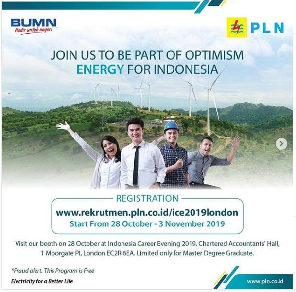 Rekrutmen BUMN Tenaga PT. Perusahaan Listrik Negara (PERSERO) Tanggal 28 Oktober - 3 November 2019