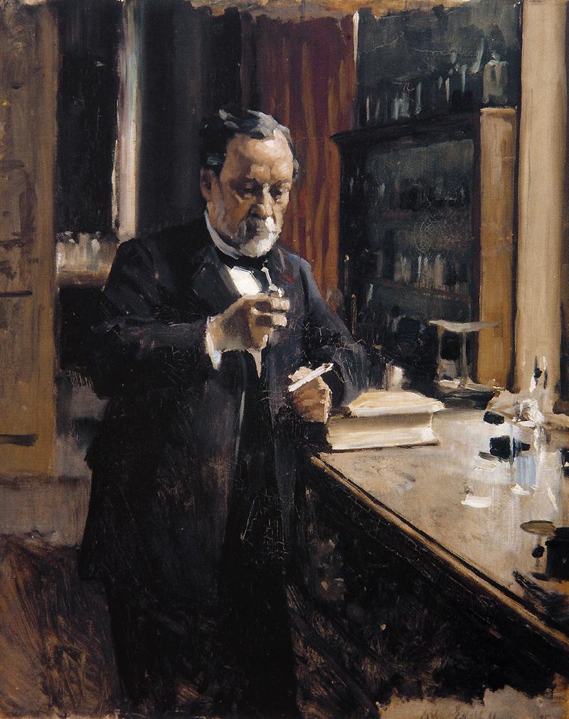 Populaire Dare-d'Art: EDELFELT, portrait de Louis Pasteur, 1885 IF73