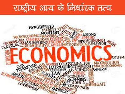 राष्ट्रीय आय के निर्धारक तत्व  Determinants of national Income in Hindi