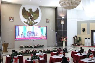 Pjs. Gubernur Sulut Agus Fatoni Ikut Rakor Dipimpin Menkopolhukam Mahfud MD Bahas Antisipasi Penyebaran Virus Corona Saat Cuti Bersama