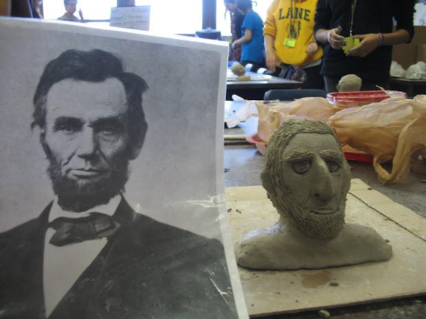 Lane Tech Art Studio Clay Busts Of Famous People