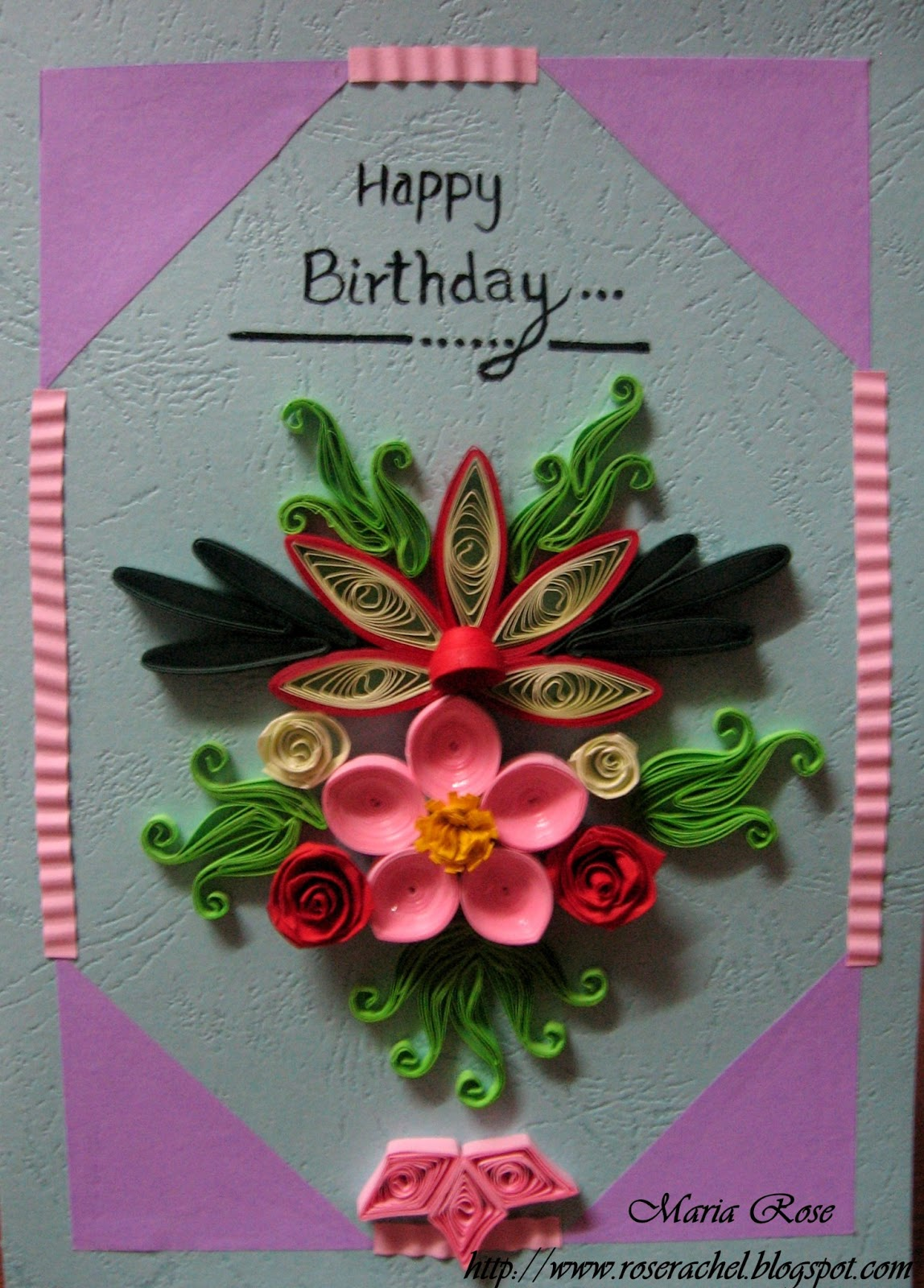 leisure space quillled birthday card