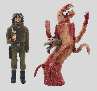 """The Great Showdowns The Thing """"The Arctic Creature"""" Resin Figure Set by Scott C."""