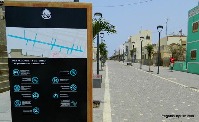 Rua de pedestres de Santa Maria, Ilha do Sal
