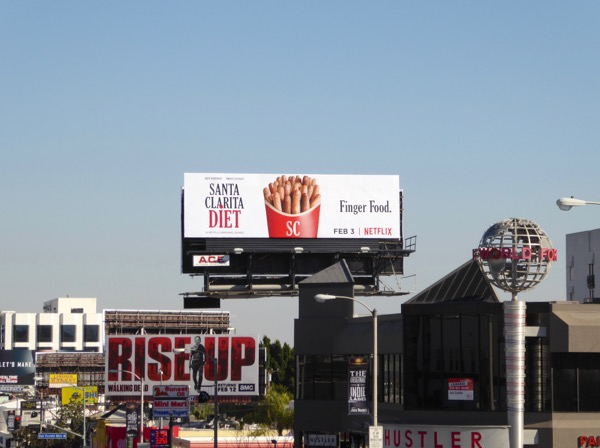 Santa Clarita Diet Finger food billboard