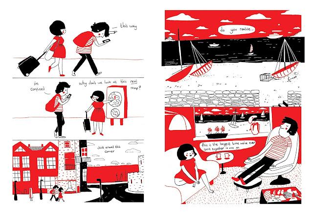Página interior del álbum ilustrado Soppy de Philippa Rice