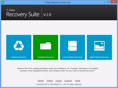 Recover Data using 7-Data Recovery Tool software