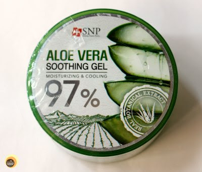 SNP Aloe Vera Soothing Gel 97%, Korean Skincare Aloe Gel details on Natural Beauty And Makeup Blog
