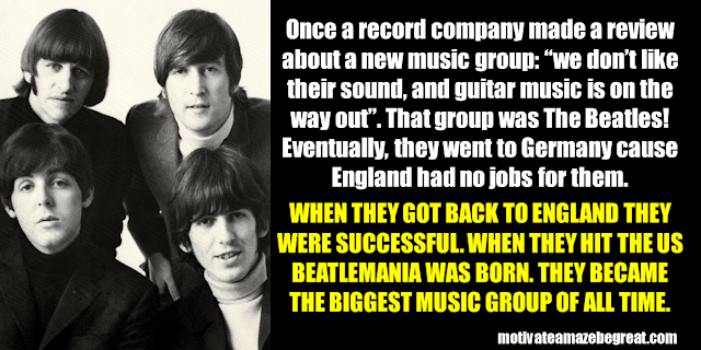 Success Stories From Famous People Who Failed Before Succeeding: The Beatles