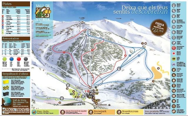 Mapa de pistas Vall de Núria