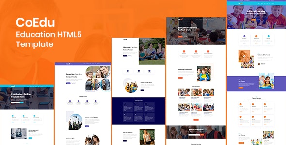 CoEdu - Education HTML5 Template Free Download, Nulled