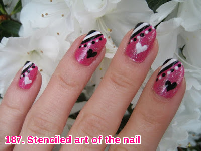 Stenciled art of the nail