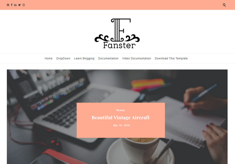Fanster Blogger Free Template
