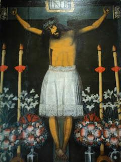 Quadro com Jesus de Saia, no Museo Historico Regional de Cusco