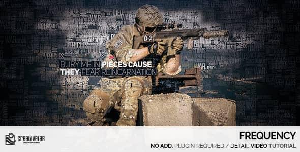 قالب افتر افكت برومو صور عسكرية