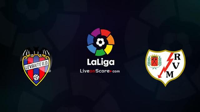 K24 TV La Liga Santimaa match this weekend Levante VS Rayo Valleco photo
