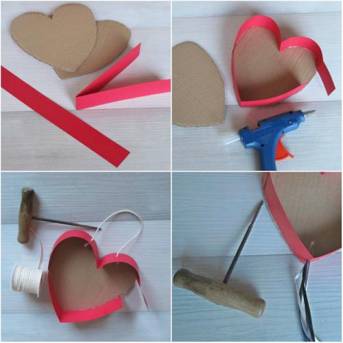 Paso a paso mini piñata en forma de corazón