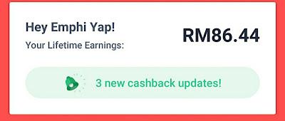 Cashback from Shopback