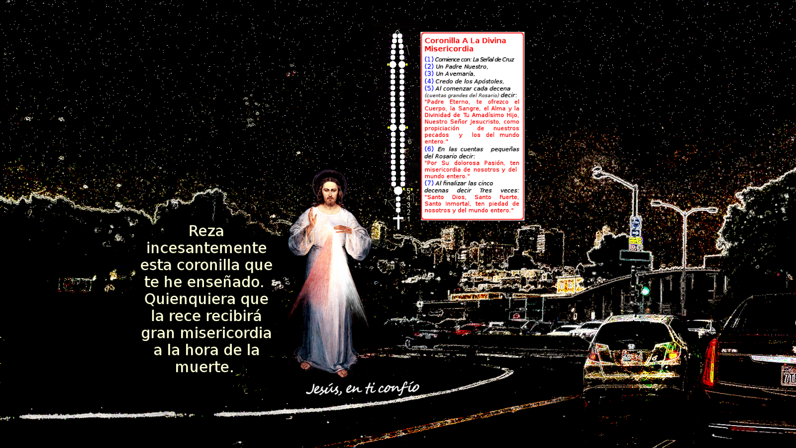 esquema coronilla divina misericordia